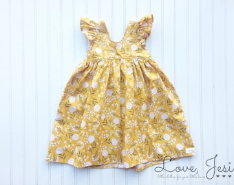Baby Girls Dresses, Clothes for Baby, Girls Spring Dresses, Cute Girl Dresses, Toddler Girl Dresses, Yellow Girls Dress