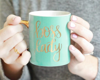 Mint Boss Lady Coffee Mug | Coffee Cup Mug Boss Gift Coworker Gift Sister Gift Best Friend Gift For Women Gift For Her Girlfriend Gift