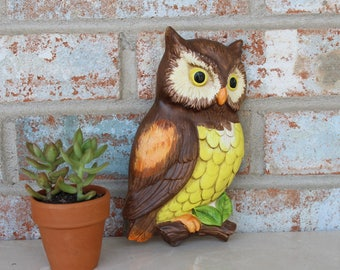 Vintage Owl Wall Hanging 1970's Made in Japan