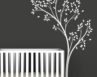 White Spring Tree Wall Decal by LittleLion Studio