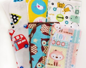 Set of 3 Burp Cloths for Baby Boy or Girl