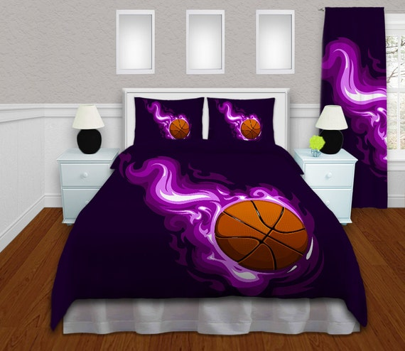 Bedroom Teenage Small Girls Room Purple Large Size: Basketball Comforter Girls Basketball Bedding Basketball
