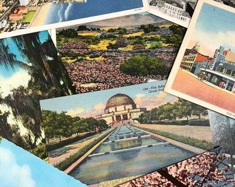 Vintage Postcard Lot-Postcard Grab Bag-Assorted Postcard Lot-Early 1900-Early 1980 Postcards