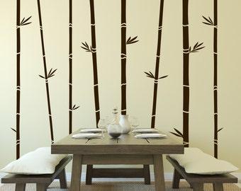 Bamboo Trees Vinyl Wall Decal
