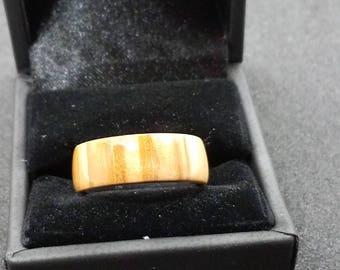 Bethlehem Olive Wood Ring Size 7