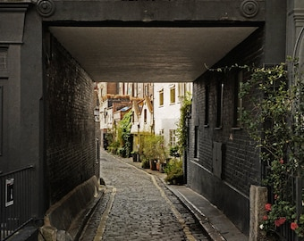 London Photography, Fine Art Print, Travel Photo, English House, Wall Art, Home Decor, Matted Print, 8x10, vertical, The Mews
