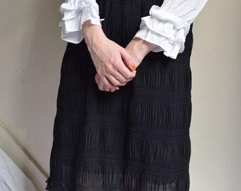 Black Tiered Ruffle Skirt