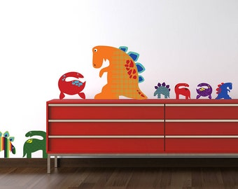 Patterned Dinosaurs Wall Stickers