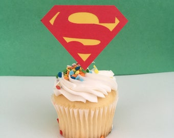 Superman Inspired Cupcake Topper