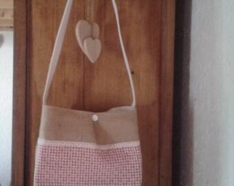 SHOULDER bag canvas of JUTE (free shipping)