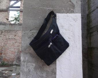 Hip Bag Waxed Canvas,Black Hip Bag Travel Belt Pouch Festival  Belt Bag Fanny Pack Waist Pack Utility Bag  Babywearing Bag Freehands