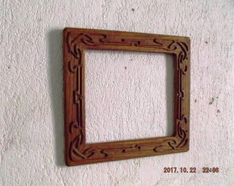 wooden engrave mirror frame