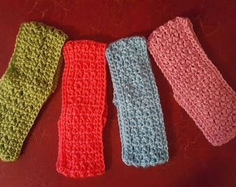 Crocheted Headbands Adult various colors