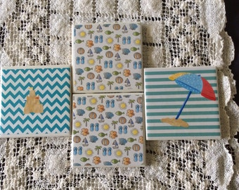 Beachy coasters