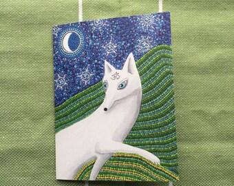 White dog Dotty Card