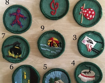 Authentic Vintage Girl Scout Patches