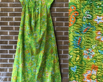 70s plus size psychedelic maxi dress
