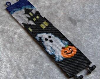 Bracelet Pattern - Halloween Ghost - Peyote Pattern