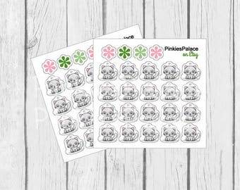 Cat Planner Stickers Gray Kitty Cat Stickers PS457