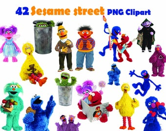 INSTANT DL- 42 x Sesame Street Clipart - printable Digital Clipart Graphic Instant Download