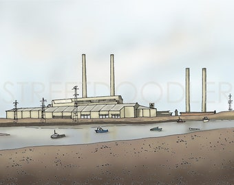 The Power Station at Blyth Stretched Canvas