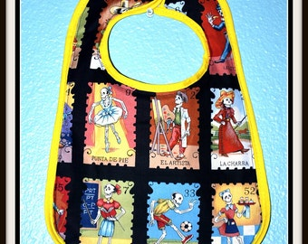 Rockabilly Day of the Dead Print Baby Bib.... Comes in two colors