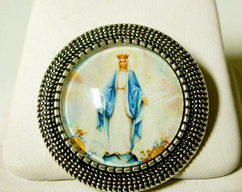 Miraculous medal brooch/pin - BR09-046