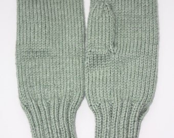 Green Mittens - Earth Tone Accessory- Woodland Heather Adult Mittens - Winter Accessories - Green Bridesmaid Gift - Knit Winter Mittens