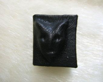 Black Leather Devil Halloween Spell  Book Dollhouse Miniature