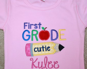 Applique T-Shirt - First Grade Cutie