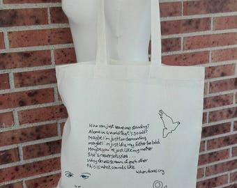 Tote bag-fabric bag-handles bag-Prince-Musica