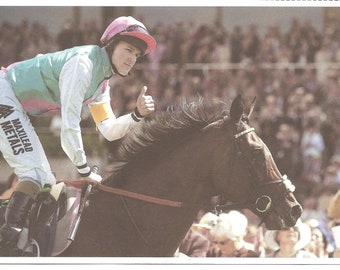 Frankel & Tom Queally  Horse racing postcard and stamp combination bookmark gift