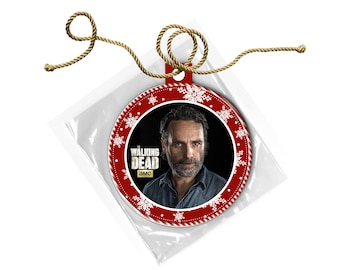 The Walking Dead Rick Grimes Andrew Lincoln Christmas Ornament