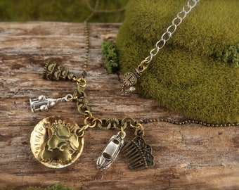 Downton Abbey Inspired Vintage Charm Necklace