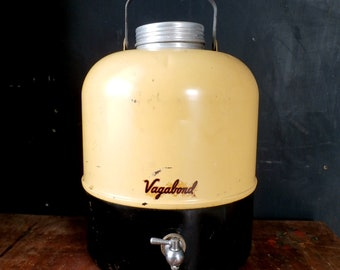 Vintage 1950s Vagabond Metal Thermos Jug