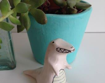 Ceramic T-rex Dinosaur