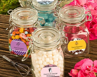 30 Personalized Apothecary Jar Favors - Set of 30
