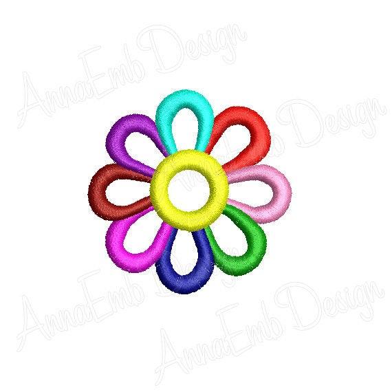 Flower Mini Embroidery Design Machine Embroidery Design Daisy