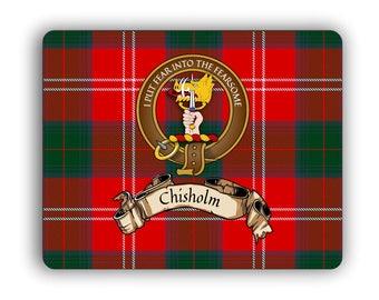 Scottish Clan Chisholm Crest Computer Mouse Pad