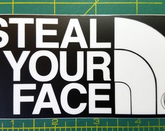 """STEAL YOUR FACE 5"""" x 2.5"""" Die Cut  Sticker - Grateful Dead North Jerry Garcia Decal *Free Shipping*"""