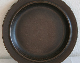 4 x ARABIA RUSKA Dinner Plate 25.5cm Finnish Design Ulla Precope Stoneware Finland Art Pottery Midcentury Modern Mid Century