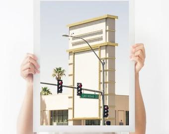 Las Vegas Art, Las Vegas Sign, Printable Photography, Printable Poster, Instant Download, Printable Art, Las Vegas Print, Architecture Art