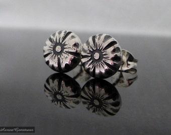 Sterling Silver Flower Stud Earrings, sterling studs, sterling silver stud earrings, flower earrings. flower ear studs, flower studs