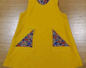 Little Miss Sunshine Reversible Pinafore Dress