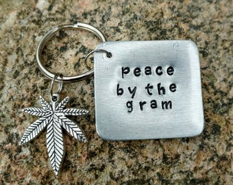 Peace by the Gram Keychain