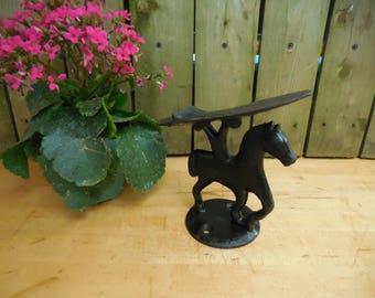 Vintage Cast Iron Horse Shoe Shine Footrest