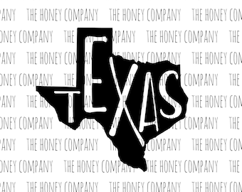 Texas SVG PNG DXF State Outline Instant Download Silhouette Cricut Cut Files Cutting Machine Vector File