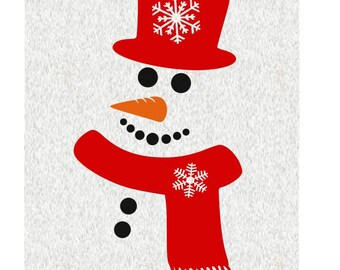 Snowman; SVG, DXF, PS, Ai and Pdf Digital Files for Electronic Cutting Machines