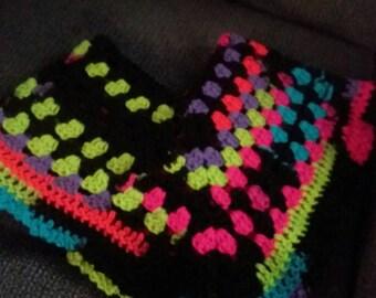Crochet poncho, toddler poncho, fun poncho
