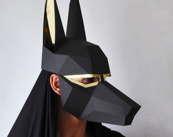 ANUBIS Mask - Easy to make Egyptian mask - Make a Low-Poly mask perfect for Halloween